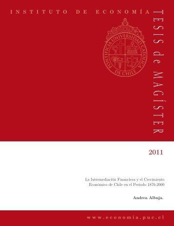 Descargar PDF - Instituto de Economía - Pontificia Universidad ...