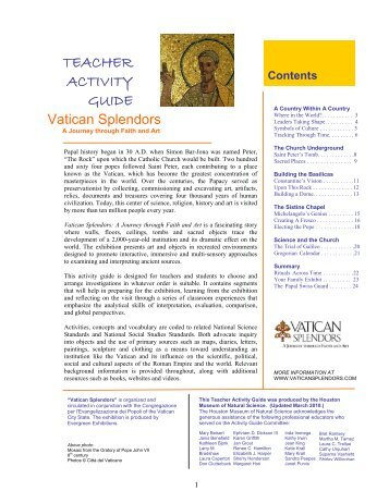 Vatican Teachers Guide.pdf - Evergreen Exhibitions