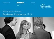Business Economics (B.A.) - Universität Witten/Herdecke