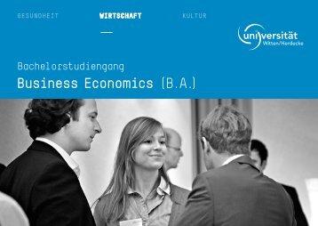 Business Economics (B.A.) - Universität Witten/Herdecke