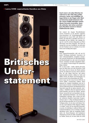 Britisches Under- statement - Audioworld