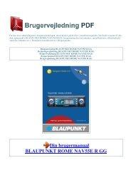 Brugsanvisning BLAUPUNKT ROME NAV55E R GG - 1