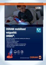 OSRAM mobiilsed valgustid: ORBIS®.