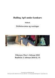Halling ApS under konkurs - konkurser.dk