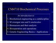 CM4710 Biochemical Processes - Chemical Engineering