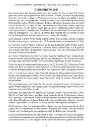 Chronik der Gemeinde Bürserberg für das Jahr 2007 - Vorarlberger ...