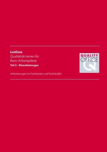 Leitlinie Qualitätskriterien für Büro-Arbeitsplätze - Deutsches ...