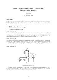 Zadání semestrálních prací z předmětu Elektronické obvody