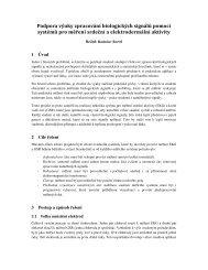 Podpora výuky zpracování biologických signálů pomocí systémů pro ...
