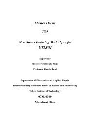 Master Thesis New Stress Inducing Technique for UTBSOI