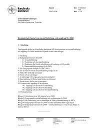 Konsistoriets beslut om resursfördelning och uppdrag för 2008 1 ...