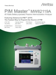 PIM Master MW82119A Product Brochure - MCS Test Equipment
