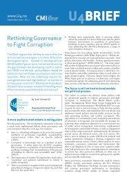 Rethinking Governance to Fight Corruption - CMI