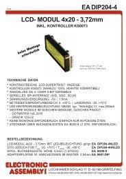 EA DIP204-4 LCD- MODUL 4x20 - 3,72mm - AVRcard