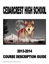 Course Description Guide - Cedarcrest High School