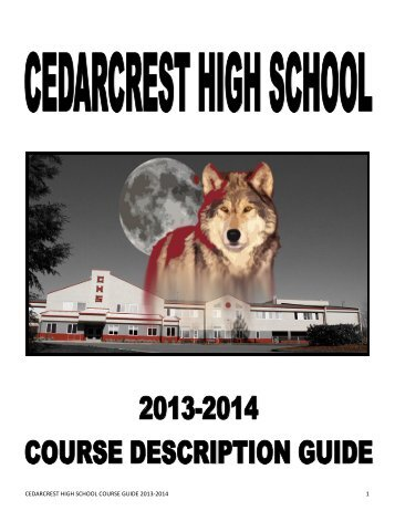 Course Description Guide - Cedarcrest High School