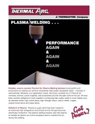 Thermal Arc Plasma Welding - OE Meyer Co.