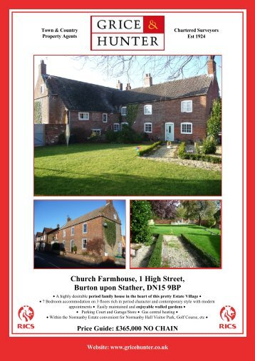 Church Farmhouse, Burton upon Stather - Grice & Hunter
