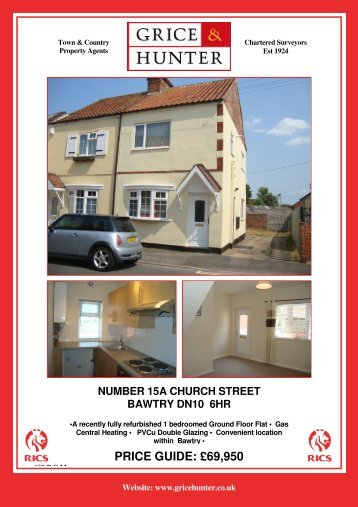 PRICE GUIDE: £95,000 - Grice & Hunter