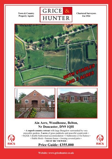 Ain Acre, Woodhouse, Belton - Grice & Hunter