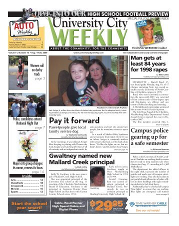 Pay it forward - Carolina Weekly Newspapers