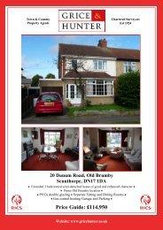 Price Guide: £114950 20 Danum Road, Old ... - Grice & Hunter