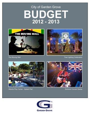 2012-2013 City Budget - Garden Grove