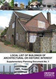 Local List Historic Buildings - Croydon Council