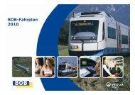 Ursache BOB-Fahrplan 2010 - Veolia Transport
