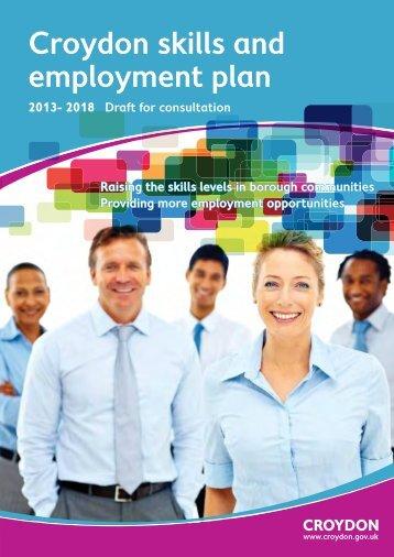 Draft Croydon skills and employment plan - Croydon Council