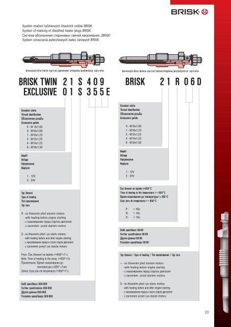 BRISK 2007 - kompletní katalog osazení vozidel ( soubor ... - Luke