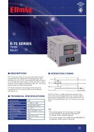 E-75 Series Timer Relay - Elimko