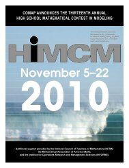 November 5–22 - COMAP