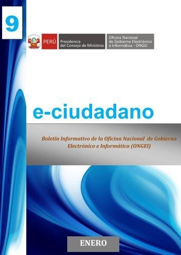 Boletín e-Ciudadano No. 9 - Enero 2013 - Ongei