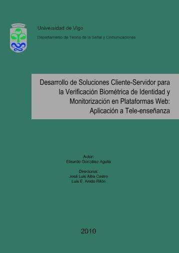Desarrollo de Soluciones Cliente-Servidor para la Verificación ...