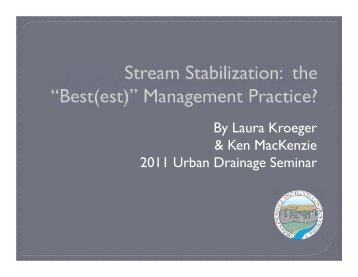 Best(est) - Urban Drainage and Flood Control District
