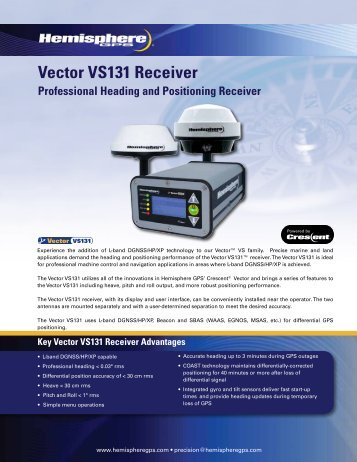 Vector VS131 Receiver - Canal Geomatics