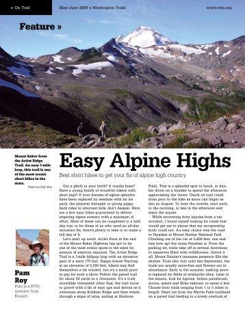 Easy Alpine Highs - Washington Trails Association