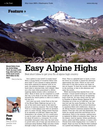 Easy Alpine Highs - Washington Trails Association