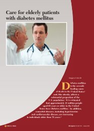 Care for elderly patients with diabetes mellitus - CECity