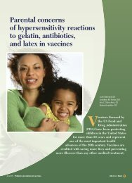 Parental concerns of hypersensitivity reactions to gelatin ... - CECity