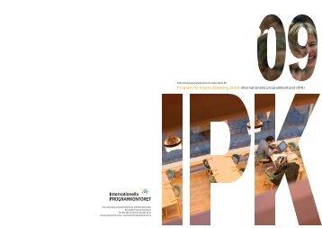 Program för högre utbildning 2009 (pdf) - Internationella ...