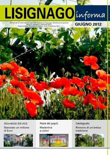 GIUGNO 2012 - Comune di Lisignago