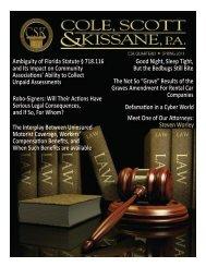 Ambiguity of Florida Statute § 718.116 a - Cole, Scott & Kissane, PA