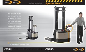 WE / WS 2300 - Crown Equipment Corporation
