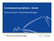 Presentation to a voluntary sector infrastructure organisation