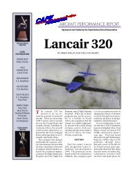 Lancair 320 - CAFE Foundation