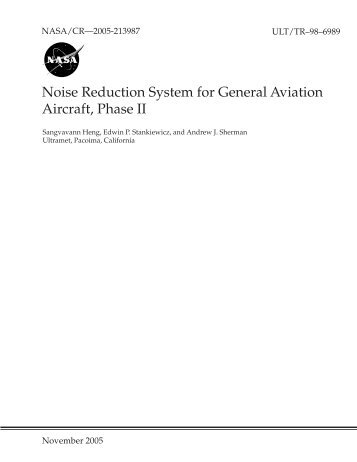 Noise Reduction System for General Aviation ... - CAFE Foundation