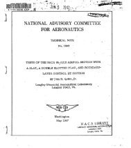 national advisory committee - for aeronautics - CAFE Foundation