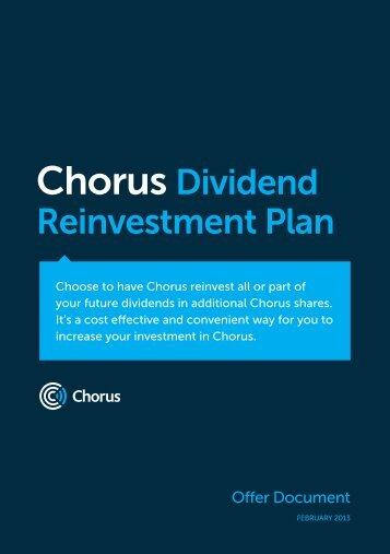 Chorus Dividend Reinvestment Plan